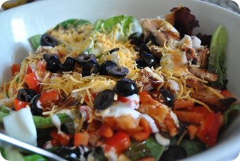 buffalo BBQ chicken salad