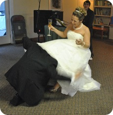 retrieving the garter