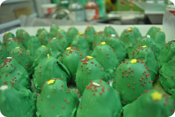 Christmas tree cake truffles