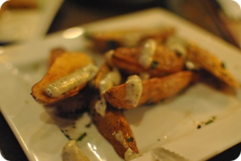 fingerling potatoes with white truffle aioli
