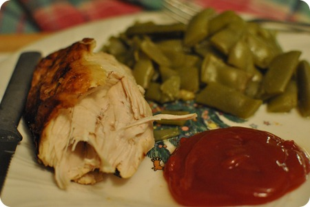 chicken + green beans