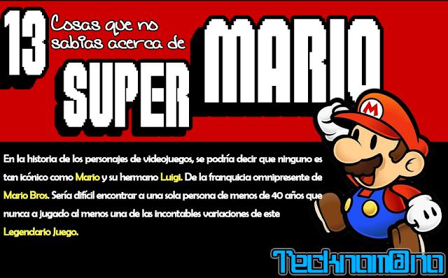 13 cosas que no sabias acerca de Mario Bros.