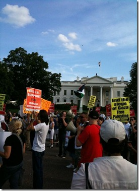 Freedom Flotilla protest in front of White House