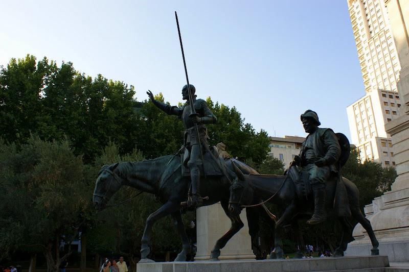 Don Quijote de la mancha, Plaza de España