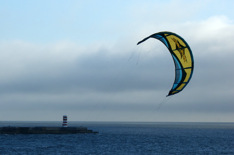 Kite surfing na Foz do Porto