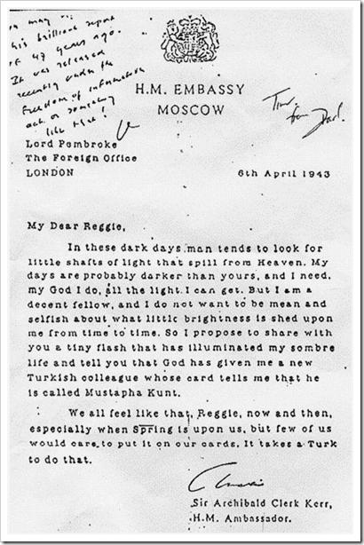 Lord Pembroke's Letter