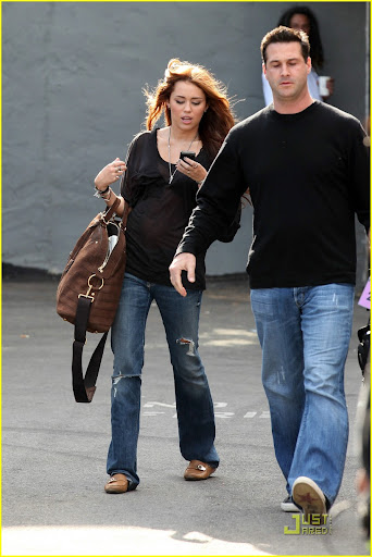 "204 Studios, Hollywood, CA -  Miley Cyrus spent the day at a photo shoot at 204 Studios, where she was visited by both her parents, Billy Ray and Leticia Cyrus.  Billy Ray brought his dogs, and ""Tish"" had Miley's new pup, Mate.  When Miley left the studio she drove away in her Mercedes SUV, and we couldn't help but notice her three blonde dolls displayed on her dashboard.GSI Media     April 12, 2010Steve Ginsburg(310) 505-8447(323) 646-2486 Keith Stockwell(310) 261-8649 steve@ginsburgspalyinc.com sales@ginsburgspalyinc.com ginsburgspalyinc@gmail.com keith@ginsburgspalyinc.com"
