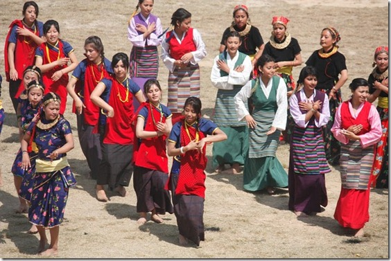 girls performing the cultural dance in opening ceremony
