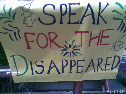 Signature Campaign for  Disappeared