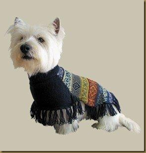 Alpakkagenser for hund: Inca Poncho