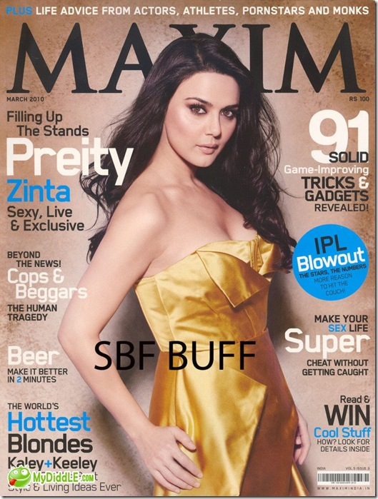 Preity Zinta – Sexy, Live & Exclusive in the March 2010 issue of Maxim Magazine…