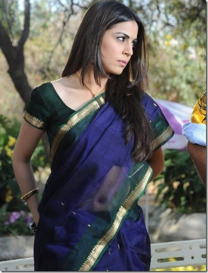 Shradha Arya – Telugu actress looking gorgeous in Saree… (2)