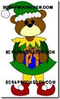 bear as Christmas elf-200