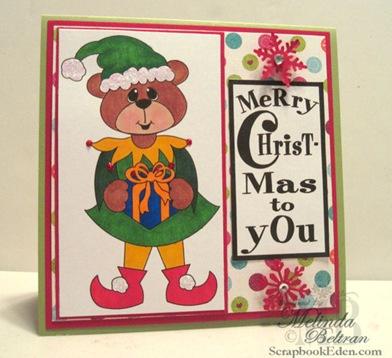 bear as christmas elf-500
