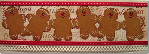 gingerbread border cricut closeup