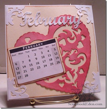 cricut calendar page idea my die cuts february
