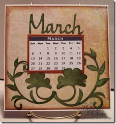 cricut calendar page ideas march