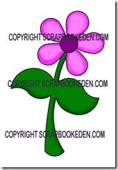 5pt retro flower-500j