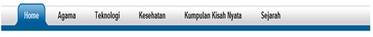 menu tab navigasi horizontal