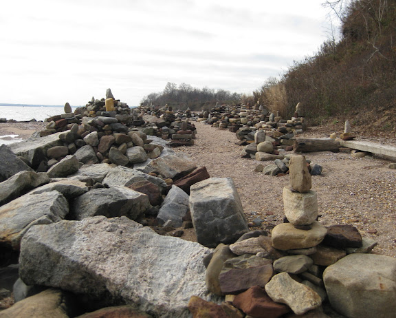 Tottenville Beach rock formations