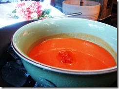 cold tomato soup at TR