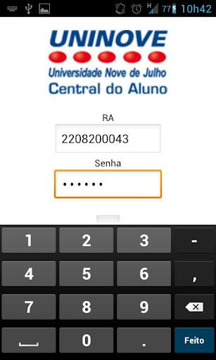 uninove-central-do-aluno for android screenshot