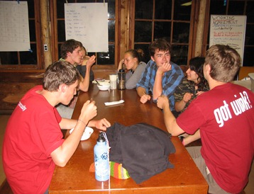 Hanging out on the 2010 Quaker Youth Pilgrimage