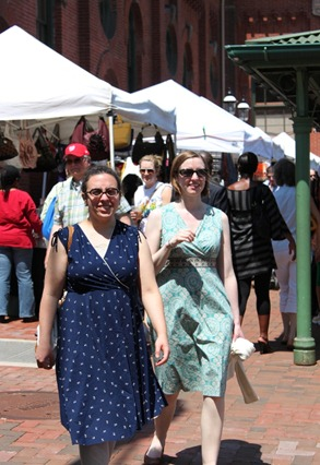Suzanne and Faith at Eastern Market