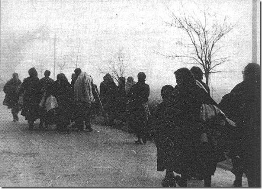 Españoles huyendo a Francia