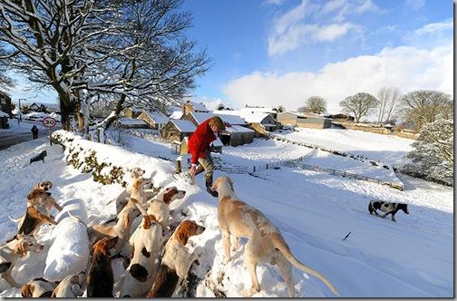 Snow Saltersgate Hunt