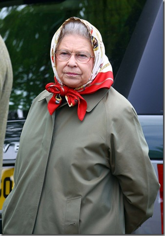 Granny in her fave Hermes-scarf