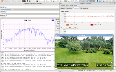 The simple video transceiver still running well after 4.5 hours