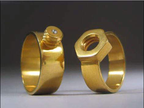 Mechanical Engineers Wedding Ring
