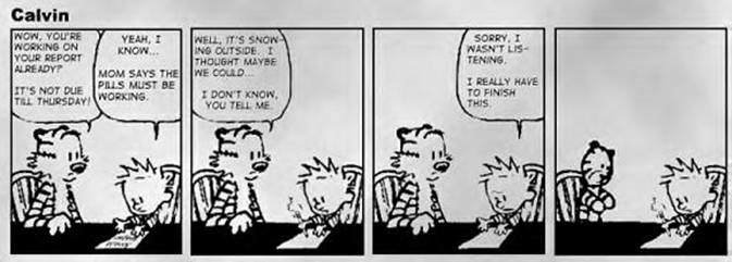 End of Calvin on Dec 31st 1995 - Last Strip