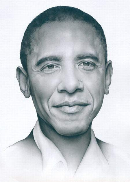 Pencil Drawing Art Celebrities: Johnny Depp, Barack Obama, Natalie Portman, Madonna, Liv Taylor, Jessica Alba and more