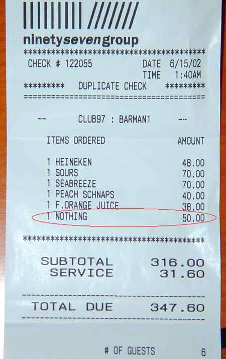 Double check your bill... Are you charged for this item?