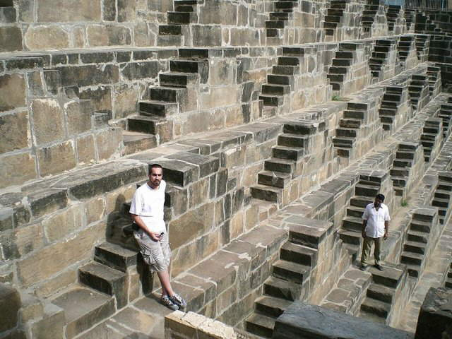 Chand Baori well in India is 30 meters deep, it has 13 floors and 3,500 steps