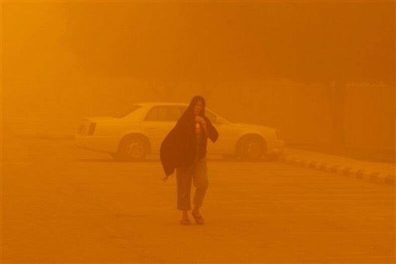 Saudi Arabia covered under Sand Storm