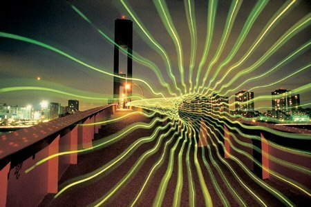Light Art - light graffiti: Multiple Exposure Photography