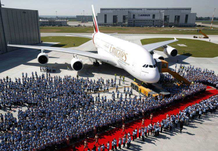 Delivery of the A380 - Emirates
