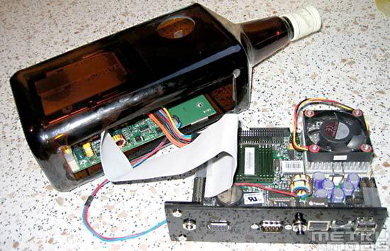 Assembling PC in a bottle of Whisky