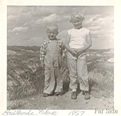 Badlands of North Dakota 1957