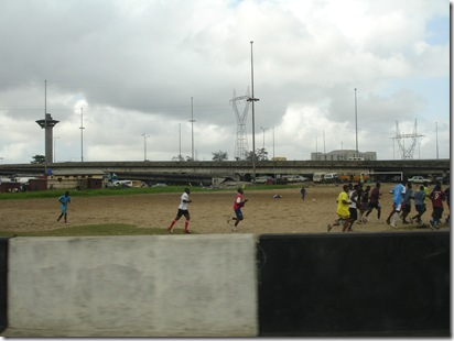Football in Lagos on a cool Sunday morning
