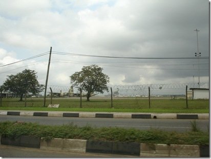 Air force jumbo planes parked at Lagos International airport