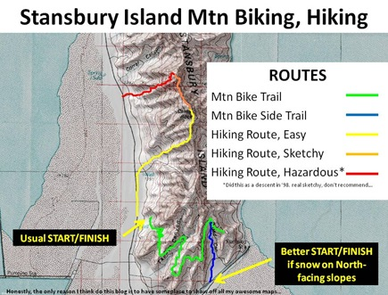 Stansbury Route Map Captions
