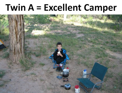 Twin A Camping caption