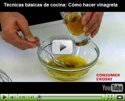 El gourmet urbano tecnicas basicas de cocina como hacer una vinagreta v a you tube consumer - Tecnicas basicas de cocina ...