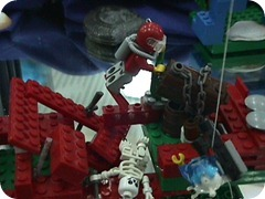 Lego - retrieving treasure box, Mr Bones