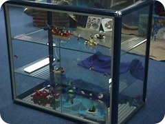 Iso view of display cabinet