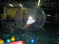 My attempt at standing inside the Zorb Ball